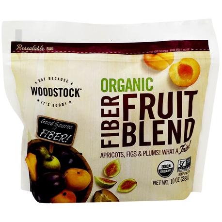 WOODSTOCK - ORGANIC FIBER FRUIT BLEND KERNELS - NON GMO - 10oz