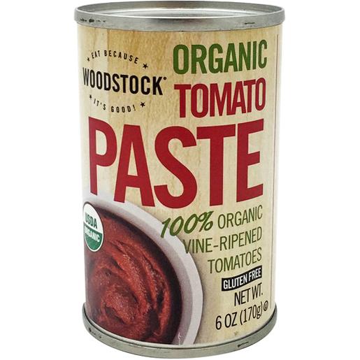 WOODSTOCK - ORGANIC TOMATO PASTE - GLUTEN FREE - 6oz