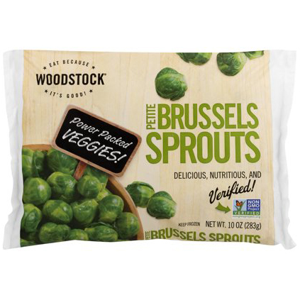 WOODSTOCK - PETITE BRUSSELS SPROUTS - NON GMO - 10oz