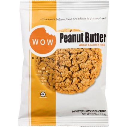WOW - WHEAT & GLUTEN FREE COOKIE - NON GMO - GLUTEN FREE - (Peanut Butter) - 2.75
