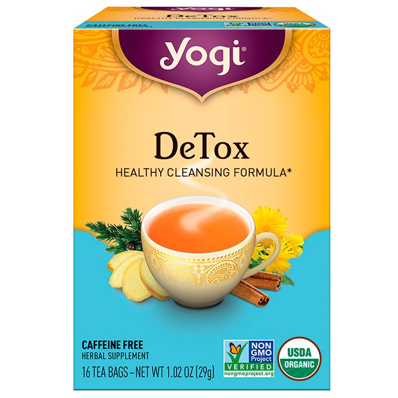 YOGI - HERBAL TEA CAFFEINE FREE - NON GMO - (Detox) - 16 Tea Bags