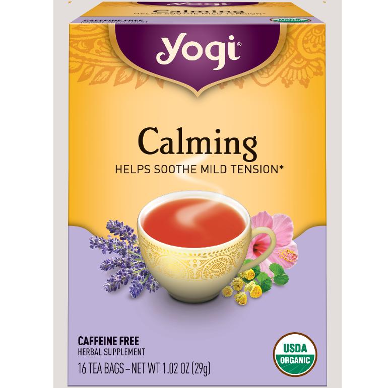 YOGI - HERBAL TEA CAFFEINE FREE - NON GMO - (Calming) - 16 Tea Bags