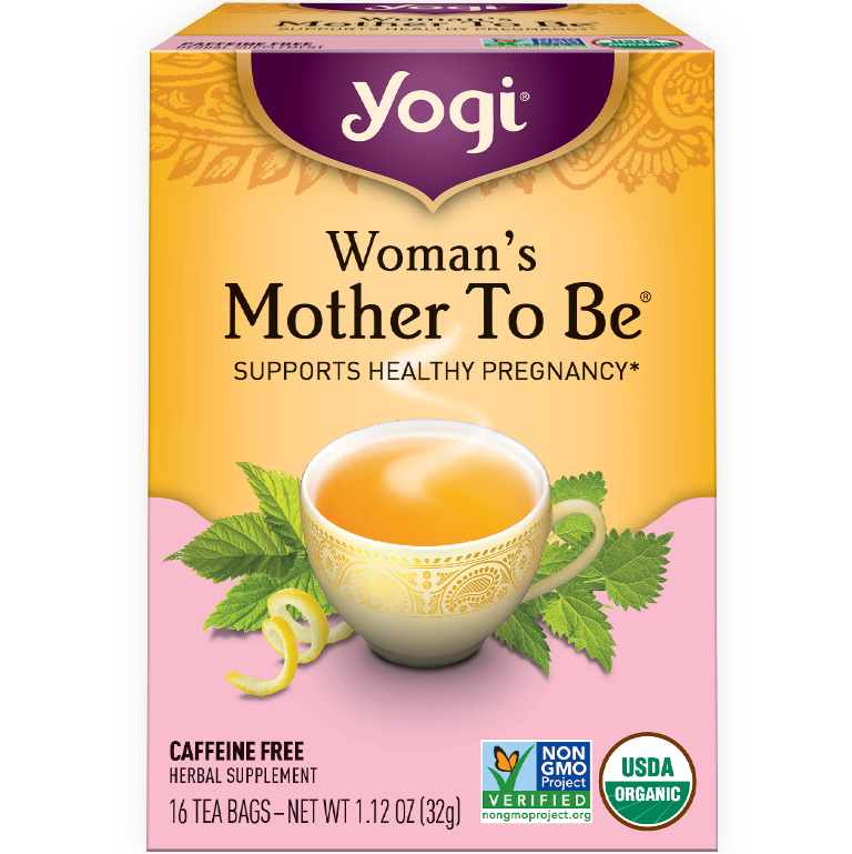 YOGI - HERBAL TEA CAFFEINE FREE - NON GMO - VEGAN - (Woman's Mother To Be) - 16 Tea Bags