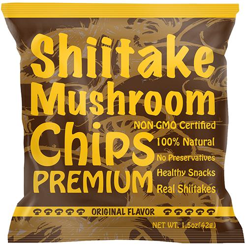 YUGUO FARMS - SHIITAKE MUSHROOM CHIPS - (Original) - 1.5oz