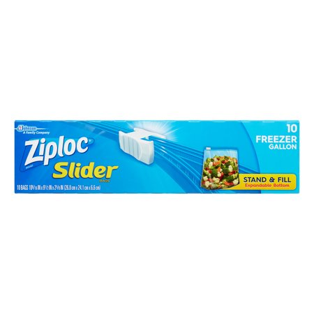 ZIPLOC - SLIDER 10 FREEZER GALLON - 10 BAGS
