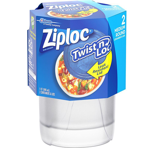 ZIPLOC - TWIST N LOC - 2PCS
