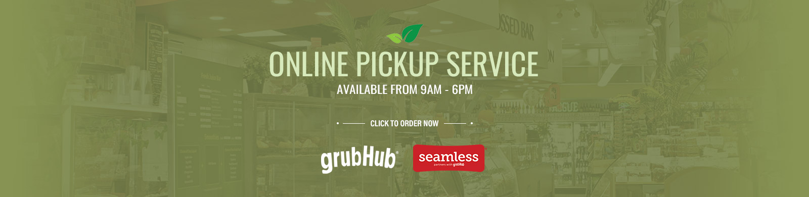 Online Pickup Service Available from 9AM - 8PM